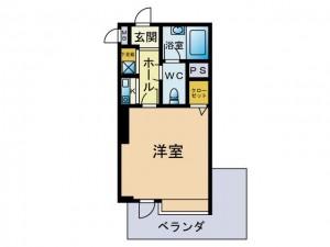 PD博多アソシア 8階 間取図